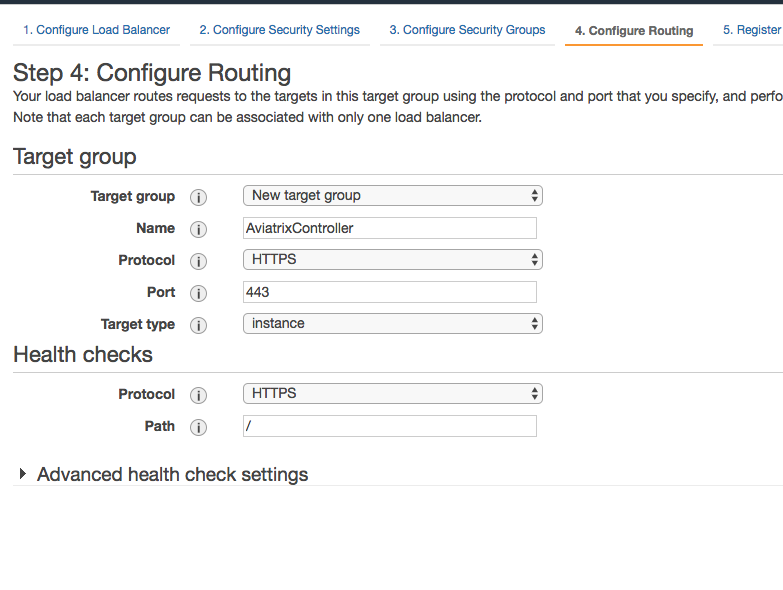Configuring an AWS Load Balancer with SSL in front of