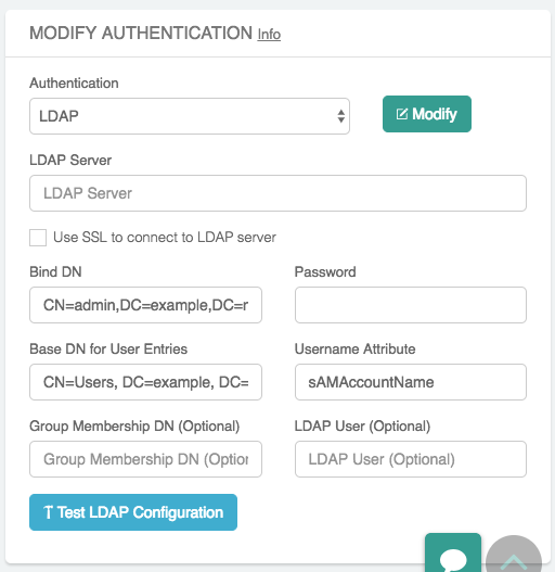 LDAP Configuration for Authenticating VPN Users